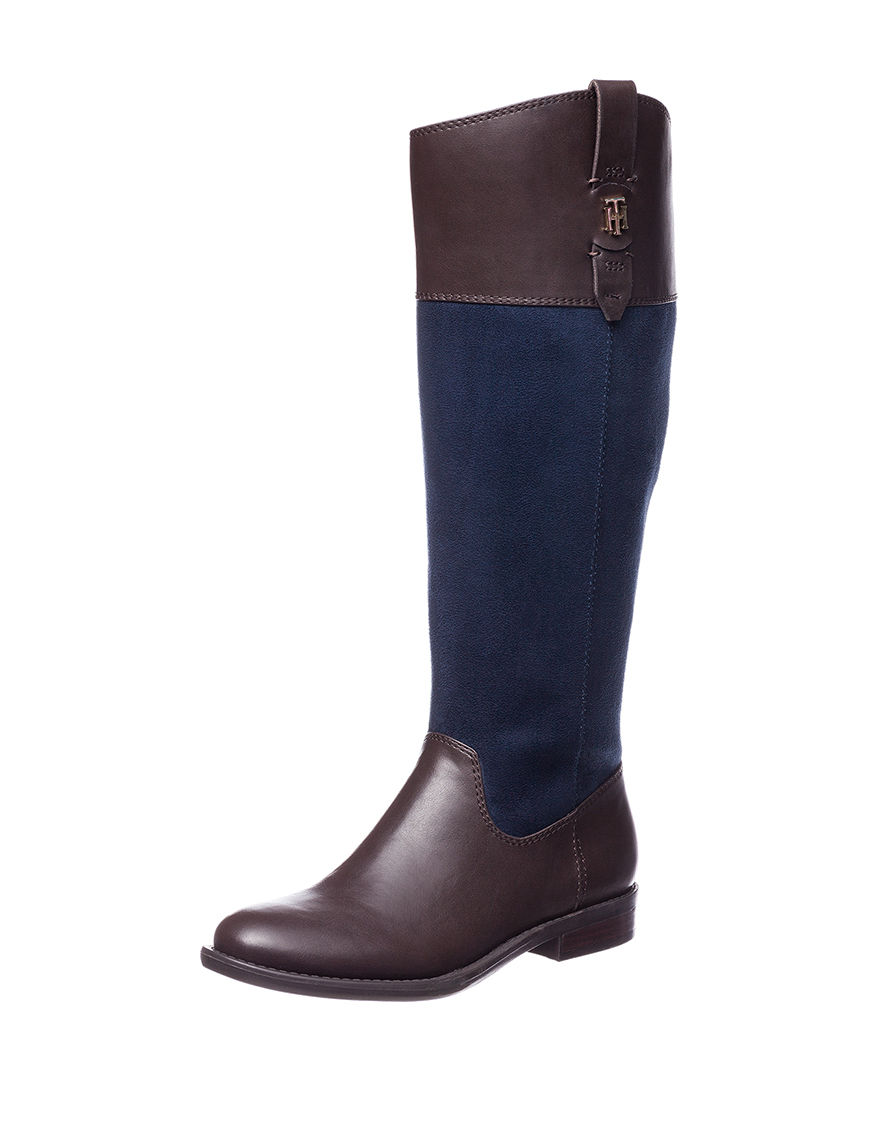 Tommy Hilfiger Blue Riding Boots