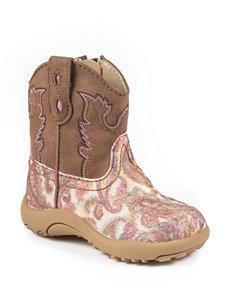 Roper Glitter Paisley Print Crib Boots –Baby 1-4