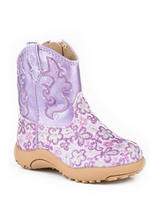 Roper Cowbaby Lavender Floral Print Crib Boots –Baby 1-4
