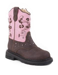 Roper Saddle Light Western Boots – Toddler Girls 5-8