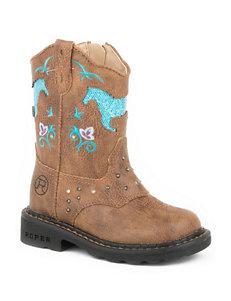 Roper Horse Flowers Western Boots – Toddler Girls 5-8