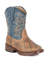 Roper Cross Cut Western Boots – Toddler Boys 5-8