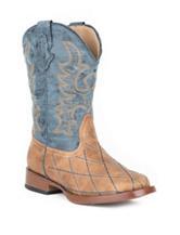 Roper Cross Cut Western Boots –Girls 9-3