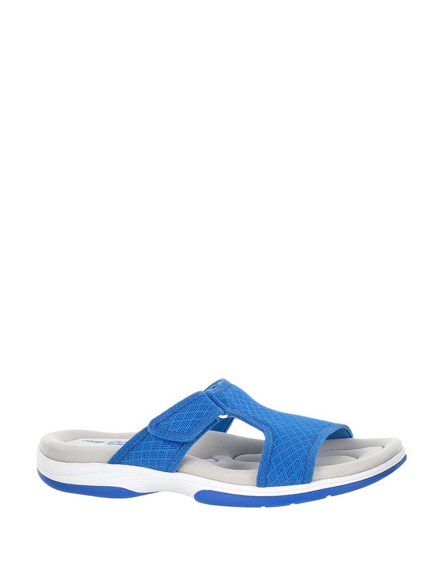 Easy Street Blue Flat Sandals