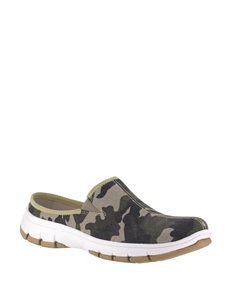 Easy Street Kana Camo Print Slip-On Shoes