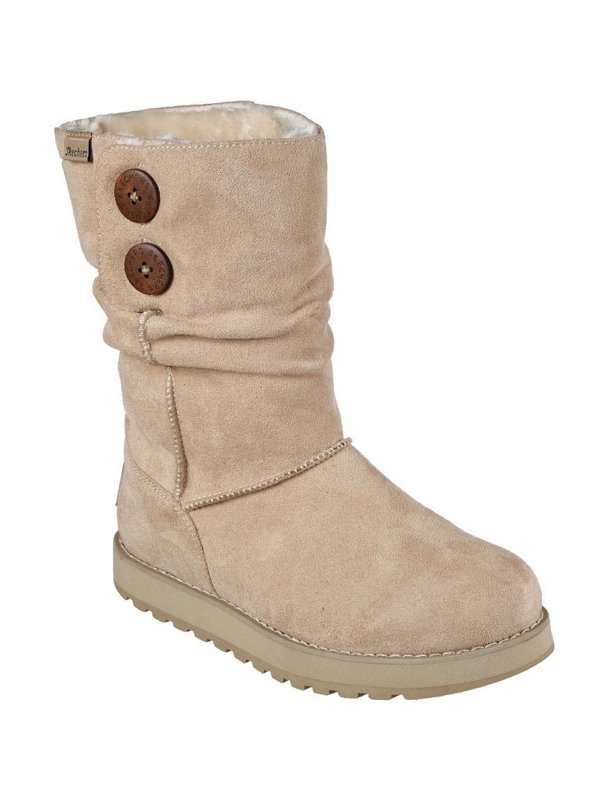 Skechers Beige Ankle Boots & Booties