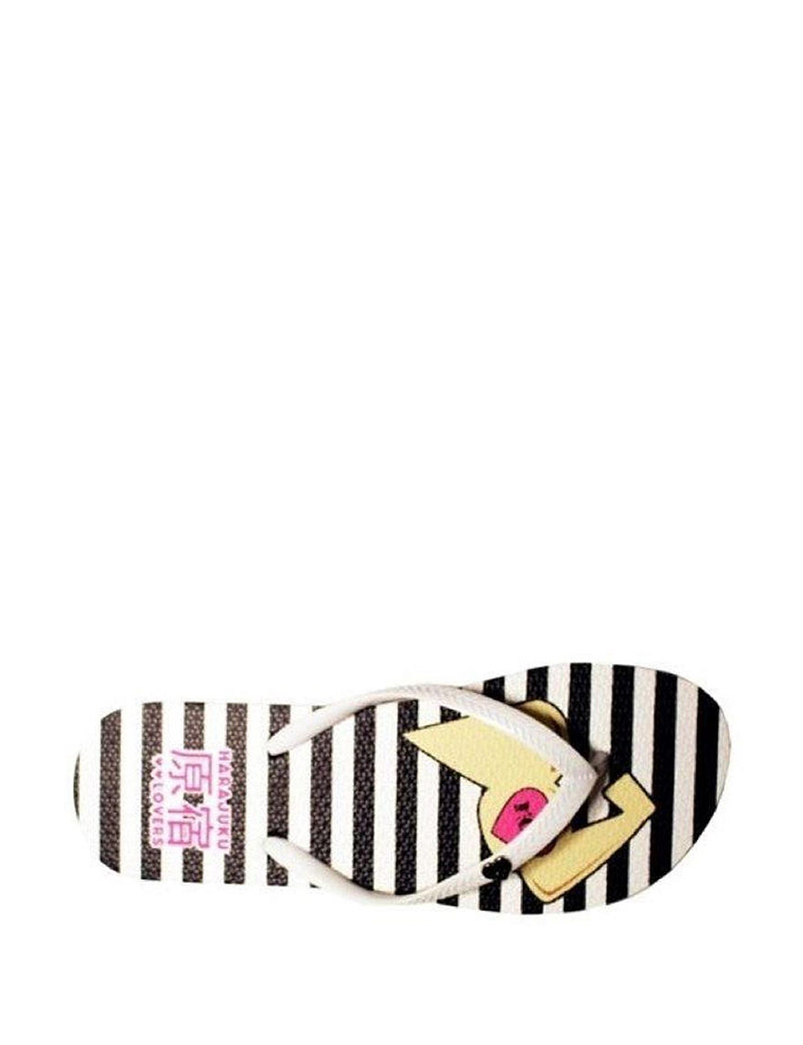 Harajuku White Flip Flops