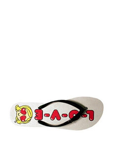 Harajuku Lovers L-O-V-E Thong Sandals