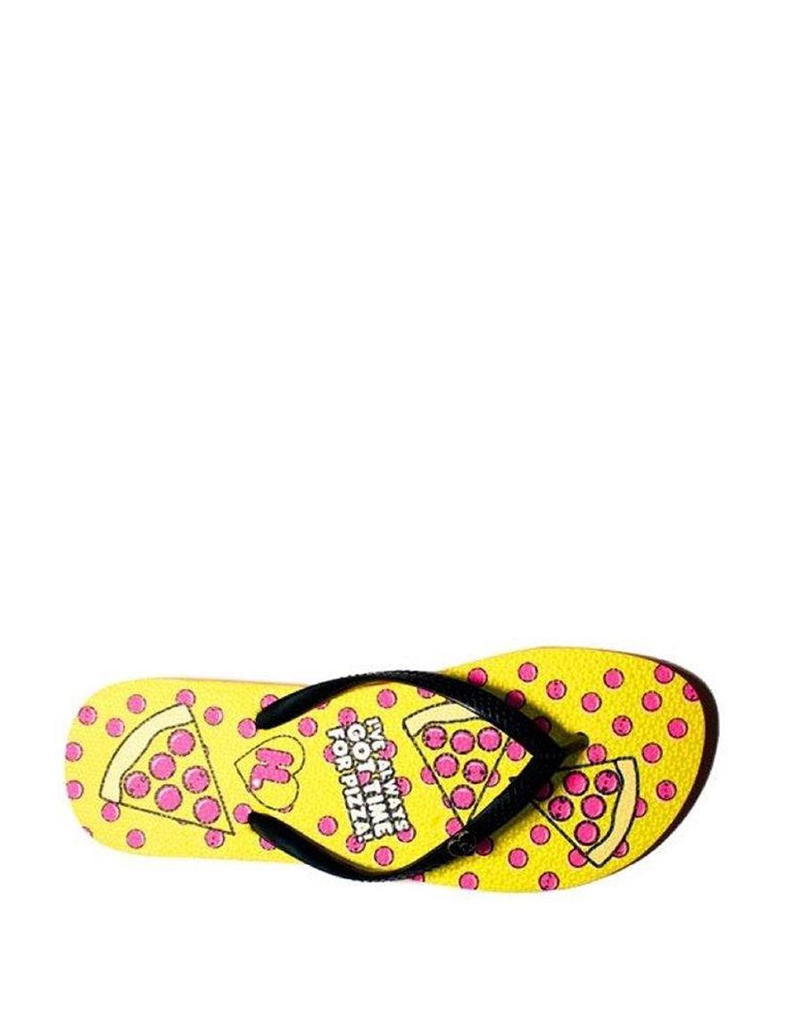 Harajuku Black / Pink Flip Flops