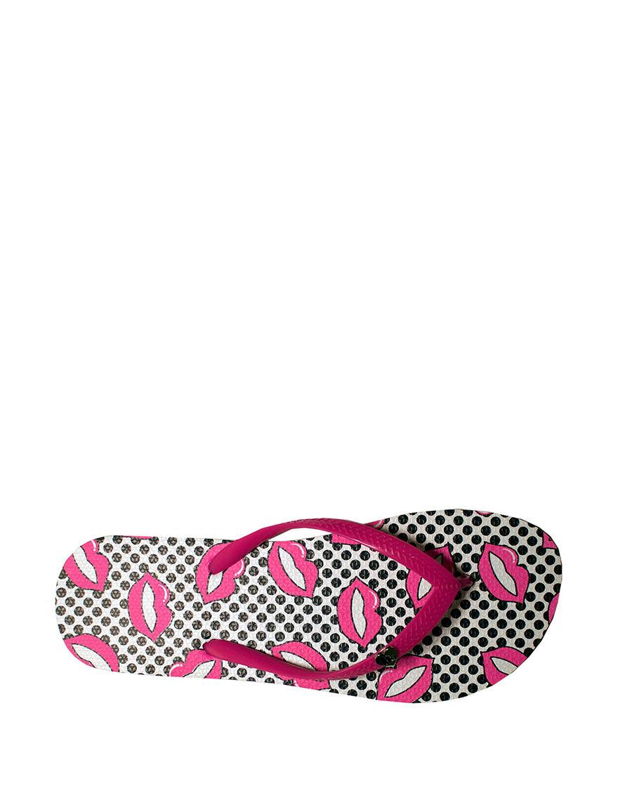 Harajuku Grey / Pink Flip Flops