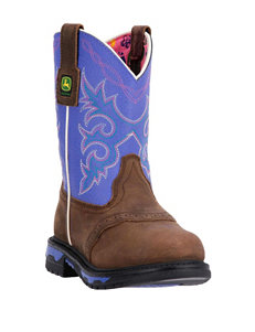 John Deere Growin' Like A Weed Purple Boots – Toddlers & Girls 11-3