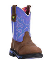 John Deere Growin' Like A Weed Purple Boots – Toddlers & Girls 11-3