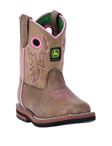 John Deere Everyday Square Toe Boots – Toddler Girls 4-7