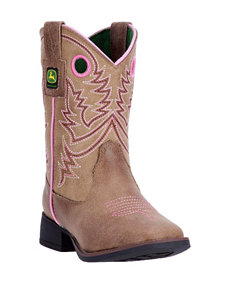 John Deere Everyday Square Toe Boots – Toddler Girls 4-7