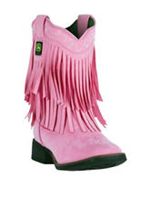 John Deere Everyday Pink Fringe Boots – Toddlers & Girls 11-3