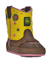 John Deere Johnny Popper Yellow Crib Boots – Baby 0-4