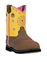 John Deere Yellow Johnny Popper Round Toe Boots – Girls 4-8