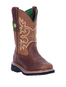 John Deere Growin' Like A Weed Square Toe Mesquite Boots – Boys 3-6