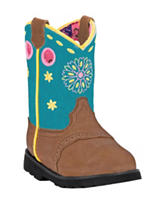 John Deere Turquoise Johnny Popper Round Toe Boots – Girls 4-8