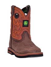 John Deere Johnny Popper Broad Square Rust Boots – Toddler Boys 4-8