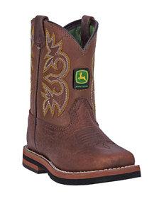 John Deere Johnny Popper Broad Square Mesquite Boots – Toddler Boys 4-8