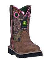 John Deere Classic Round Toe Camo Boots – Girls 8-3