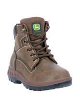 John Deere Distressed Lace-Up Hiking Boots – Kids 8-3