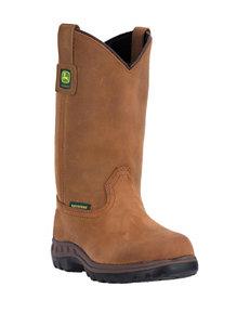 John Deere 10 Inch Waterproof Steel Shank Boots