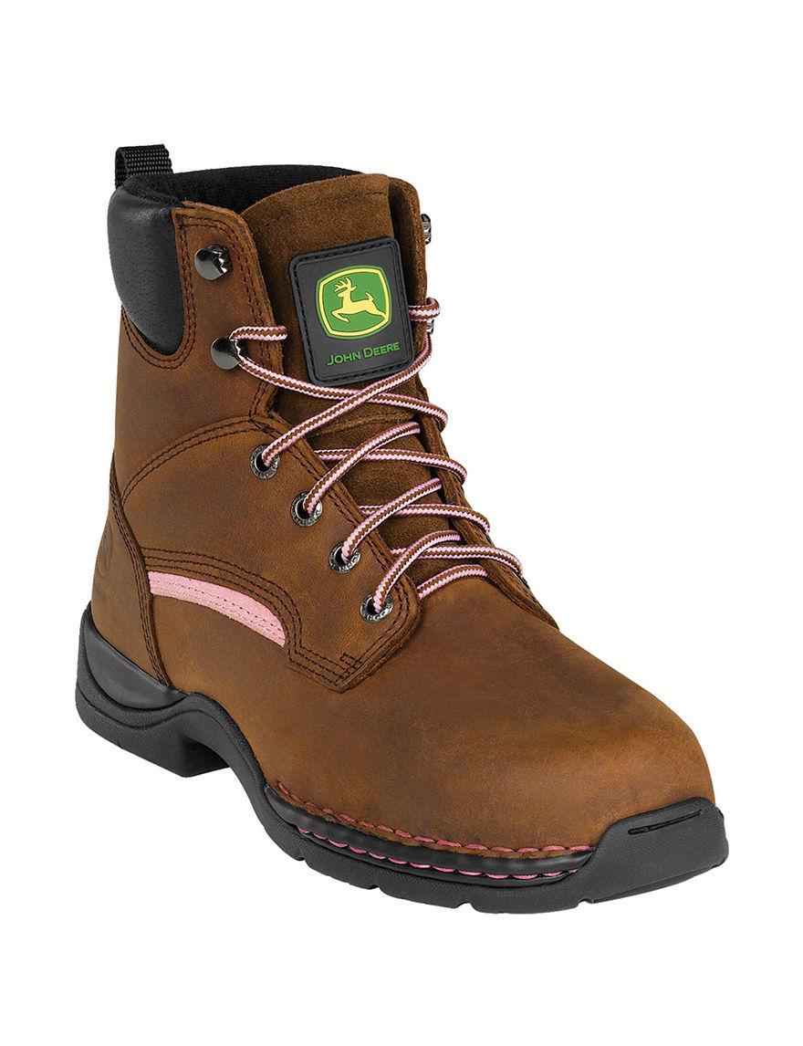 John Deere Brown Ankle Boots & Booties