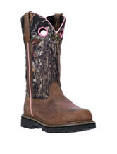 John Deere Dark Brown Mossy Oak Western Boots