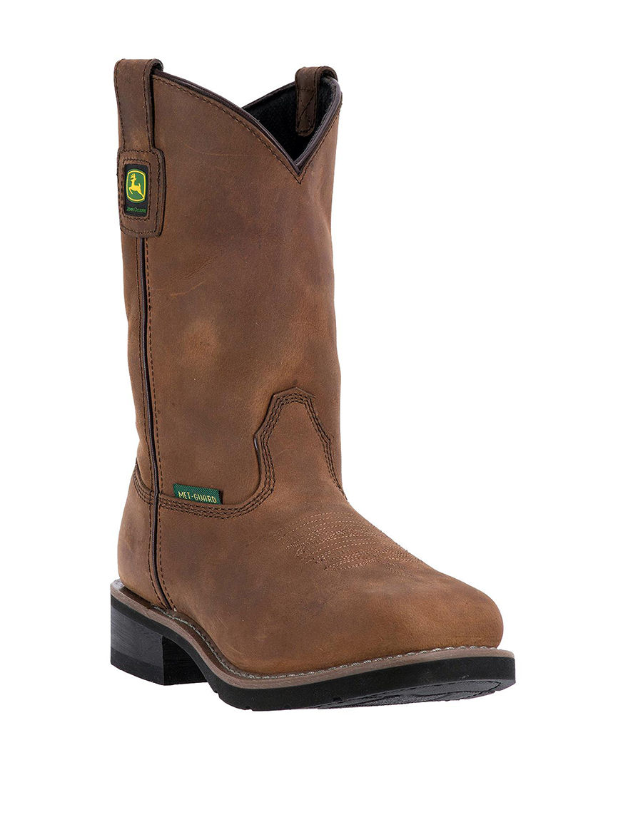 John Deere Tan Western & Cowboy Boots