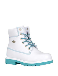 Lugz White / Green Ankle Boots & Booties