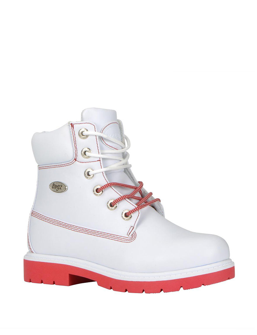 Lugz White / Red Ankle Boots & Booties