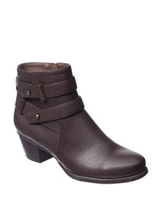 Natural Soul Brown Ankle Boots & Booties