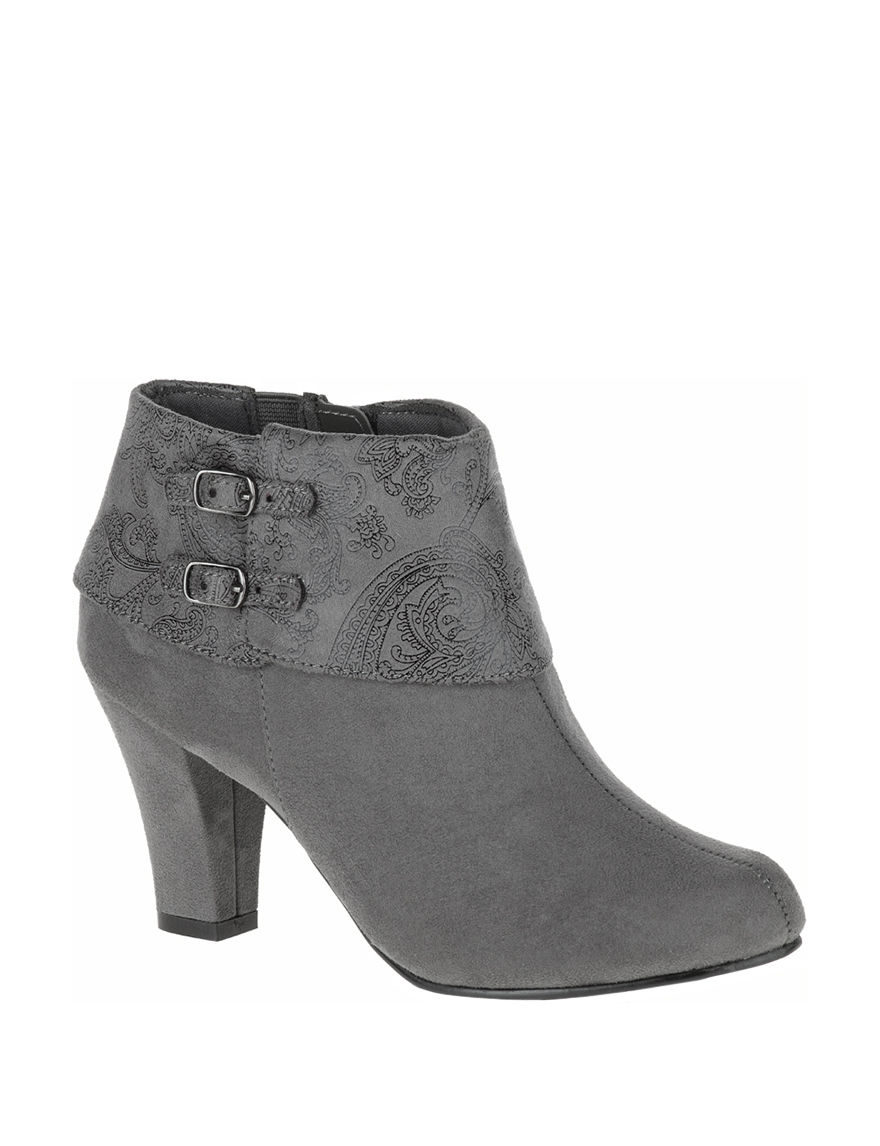 Soft Style Charcoal Ankle Boots & Booties