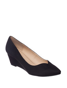 CL Black Wedge Pumps