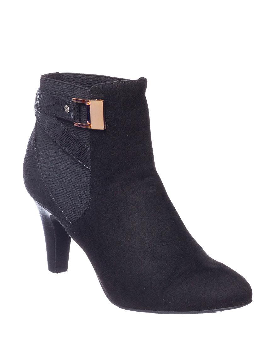Valerie Stevens Black Ankle Boots & Booties
