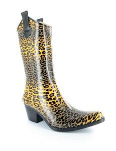 Corkys Cheetah Rain Boots