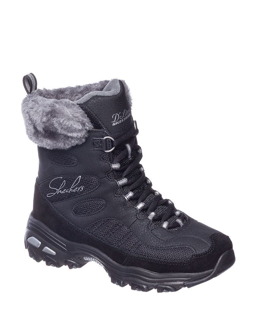 Skechers Black Hiking Boots