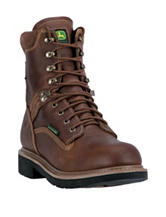 John Deere Lace-Up Waterproof Steel Toe Farm & Work Boots