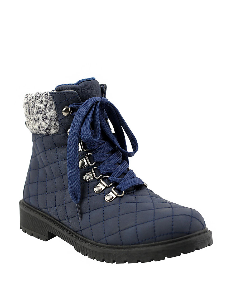 Olivia Miller Navy Ankle Boots & Booties