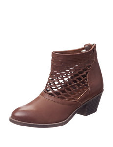 Sugar Cognac Ankle Boots & Booties