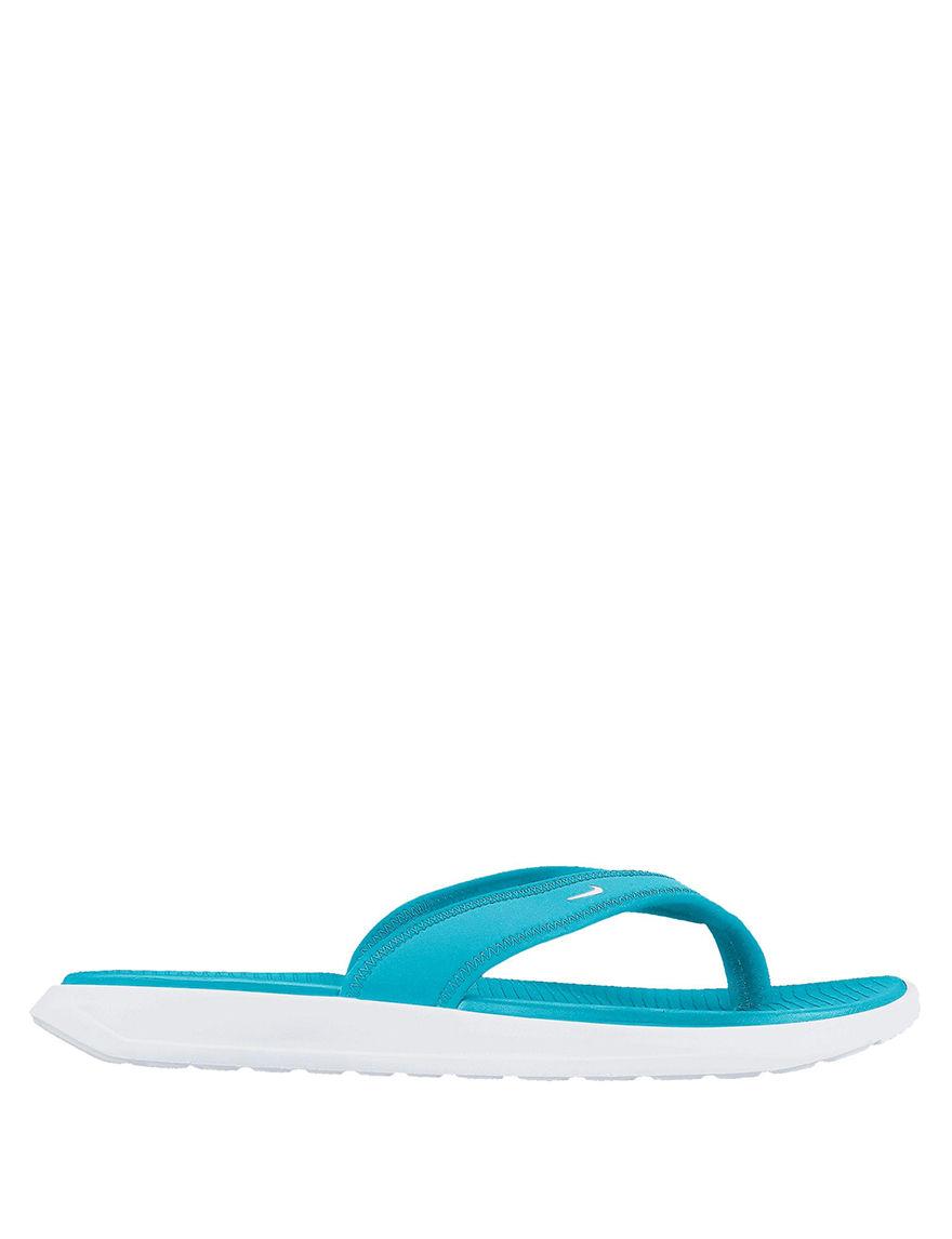 Nike Blue / White Flip Flops