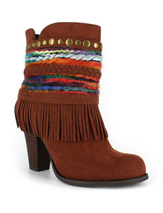 Dolce by Mojo Moxy Rust Ankle Boots & Booties