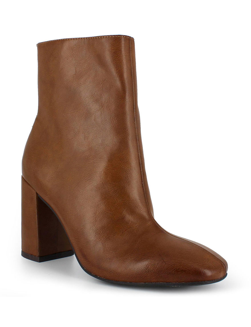 Dolce by Mojo Moxy Cognac Ankle Boots & Booties