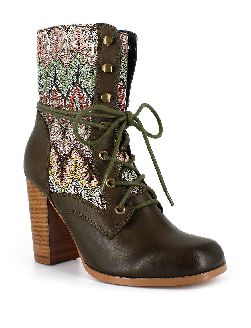 Dolce by Mojo Moxy Beige Ankle Boots & Booties