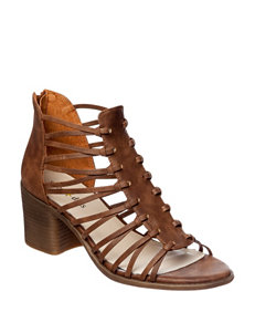 Seven Dials Brown Gladiators Heeled Sandals