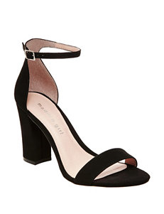 Madden Girl Black Heeled Sandals
