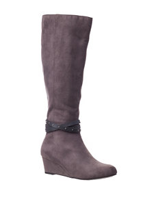 Valerie Stevens Grey Wedge Boots