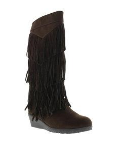 Kenneth Cole Simona Fringe Boots – Girls 12-6